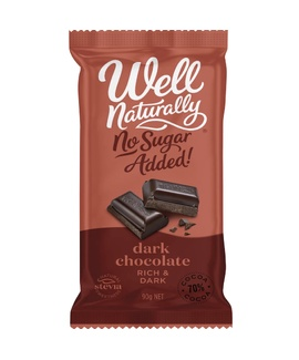 Well Naturally Rich Dark Chocolate 90g
